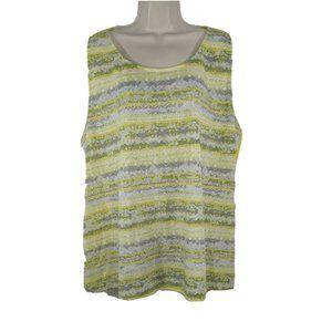 Dept 222 Top Shirt Split Back Women Plus Size 3X